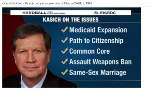 John Kasich is Barack Hussein Obama, Jr.