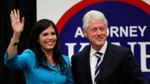 Kathleen Kane and Bill Clinton